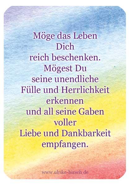 """Segenskärtchen """"Reichtum"""" (Rückseite)"""