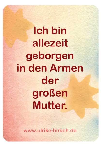 "Segenskarte ""Mutter & Kind"" (Rückseite)"