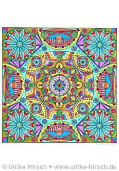 """Ausmal-Mandala """"Kosmos"""" (ausgemalt)"""