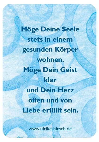 """Segenskärtchen """"Gesundheit"""" (Rückseite)"""