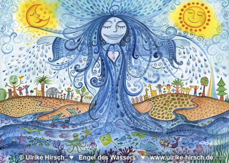 """Illustration """"Engel des Wassers"""""""