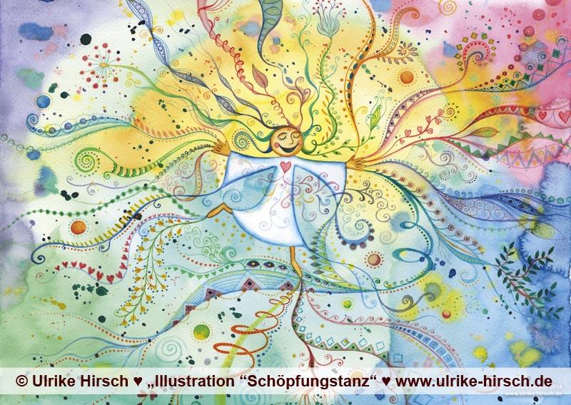 """Illustration """"Schöpfungstanz"""" von Ulrike Hirsch"""