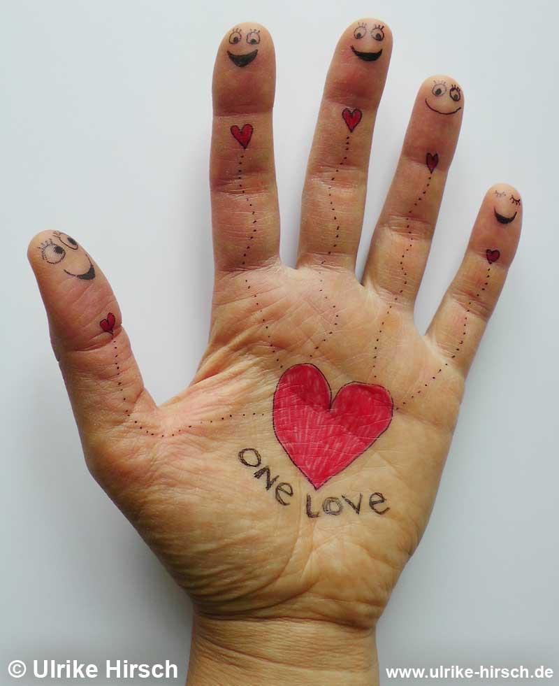 One Love - ein Hand-Werk von Ulrike Hirsch