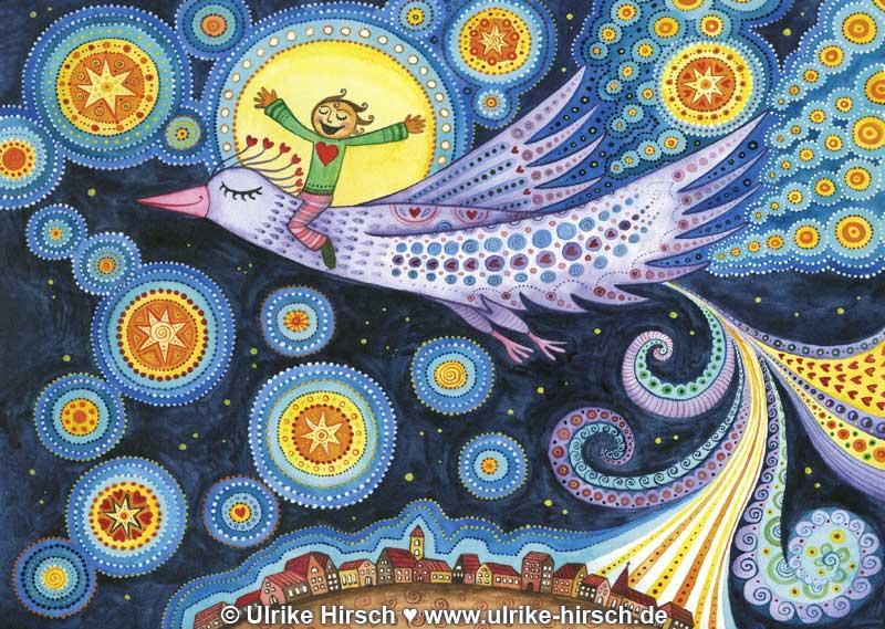 """Illustration """"Traumvogel"""" von Ulrike Hirsch"""