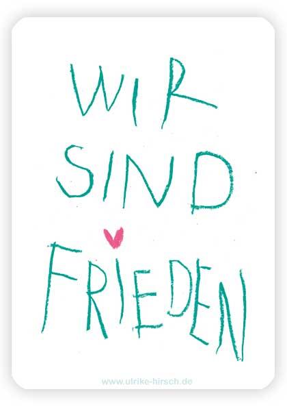 """Segenskarte """"WIR SIND FRIEDEN"""" (Rückseite)"""