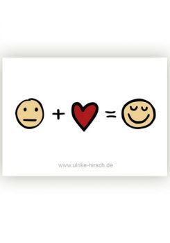 "Aufkleber ""Liebe hilft immer"""