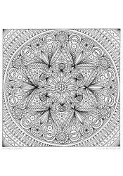 "Ausmal-Mandala ""Flora"""
