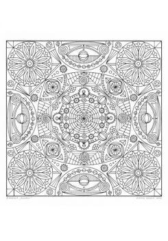"""Ausmal-Mandala """"Kosmos"""""""
