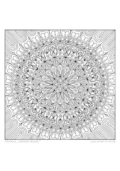 """Ausmal-Mandala """"Sonnenblume"""""""