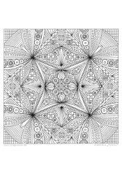 """Ausmal-Mandala """"Tempel"""""""
