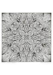 """Ausmal-Mandala """"Blüte des Orients"""""""