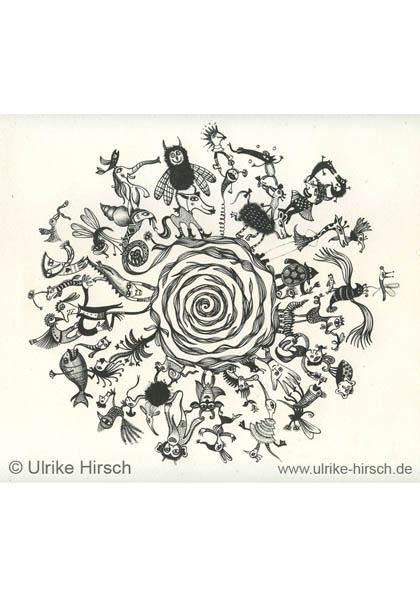 """Lithografie """"Wesensspirale"""""""