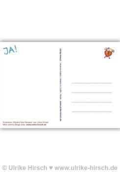 "Postkarte ""Weckruf des Herzens"" (Rückseite)"
