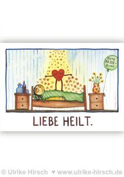 "Postkarte ""LIEBE HEILT"""