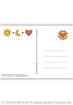 """Postkarte """"Mann & Frau"""" (Rückseite)"""