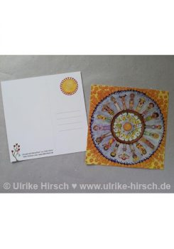 Postkarte Wundervolle Menschheit (vorn und hinten)