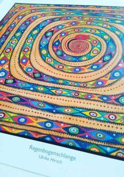 Kunstdruck Regenbogenschlange
