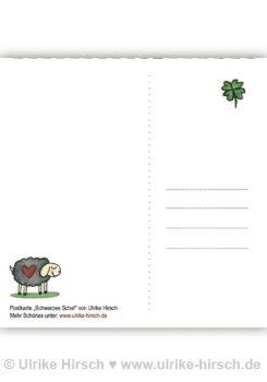 """Postkarte """"Schwarzes Schaf""""(Rückseite)"""