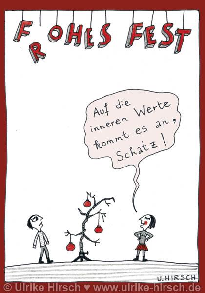 """Weihnachtspostkarte """"Innere Werte"""""""