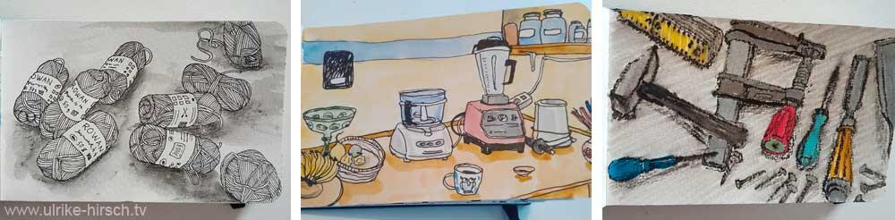 Ulrike Hirschs 30-Tage-Zeichnen-Challenge