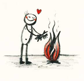 Das Feuer der Begeisterung am Brennen halten!