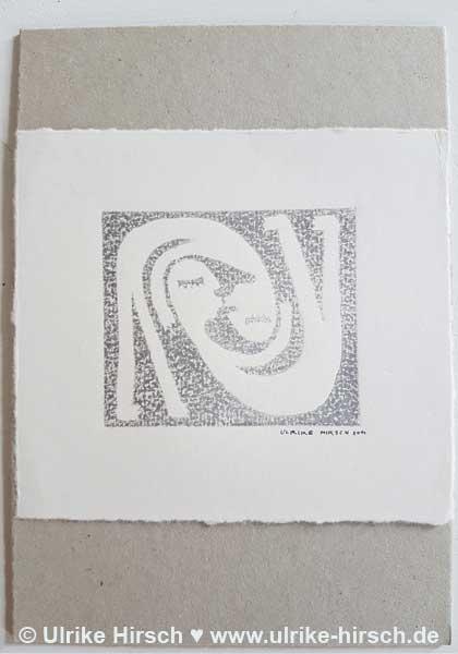 "Linoldruck-Grafik ""Kusspaar"" (1)"