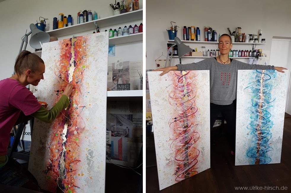 Transformations-Malereien von Ulrike Hirsch