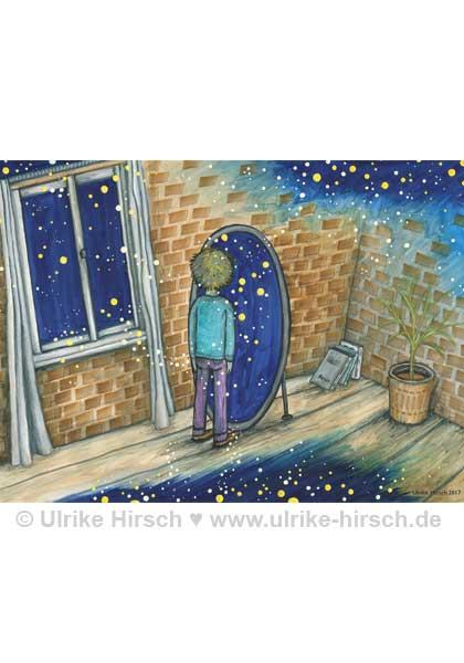 """Postkarte """"Blick hinter den Schleier"""""""