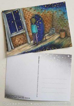 """Postkarte """"Blick hinter den Schleier"""" (vorn und hinten)"""