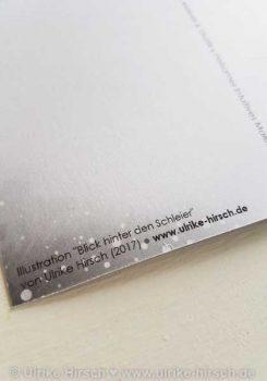 "Postkarte ""Blick hinter den Schleier"" (hinten, Detail)"