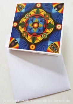Klappkarte Afrikanisches Mandala