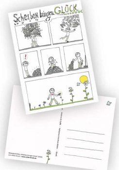 """Postkarte """"Scherben bringen Glück"""""""