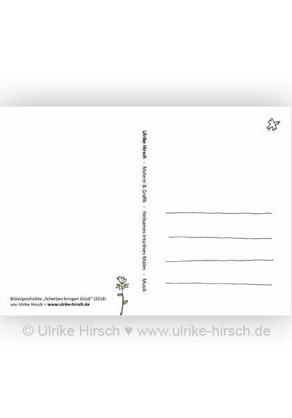 postkarte scherben bringen gl ck ulrike hirsch. Black Bedroom Furniture Sets. Home Design Ideas