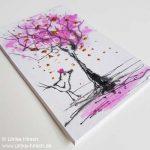 Vogel mit rosa Krone