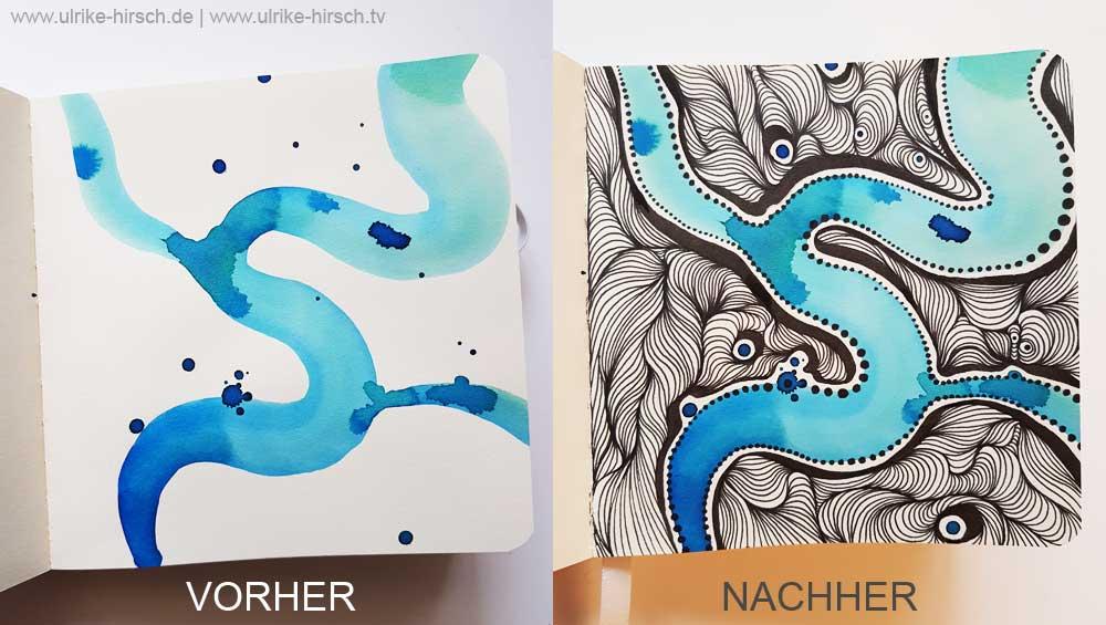 VORHER-NACHHER-Wunder in Blau