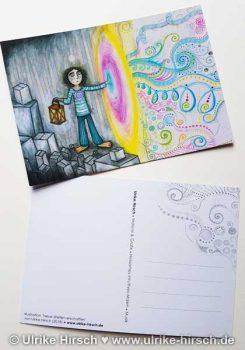 """Postkarte """"Neue Welten erschaffen"""""""
