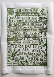"Linoldruck ""Irischer Segen"" | Ulrike Hirsch"