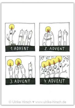 "Postkarte ""Advent, Advent"""