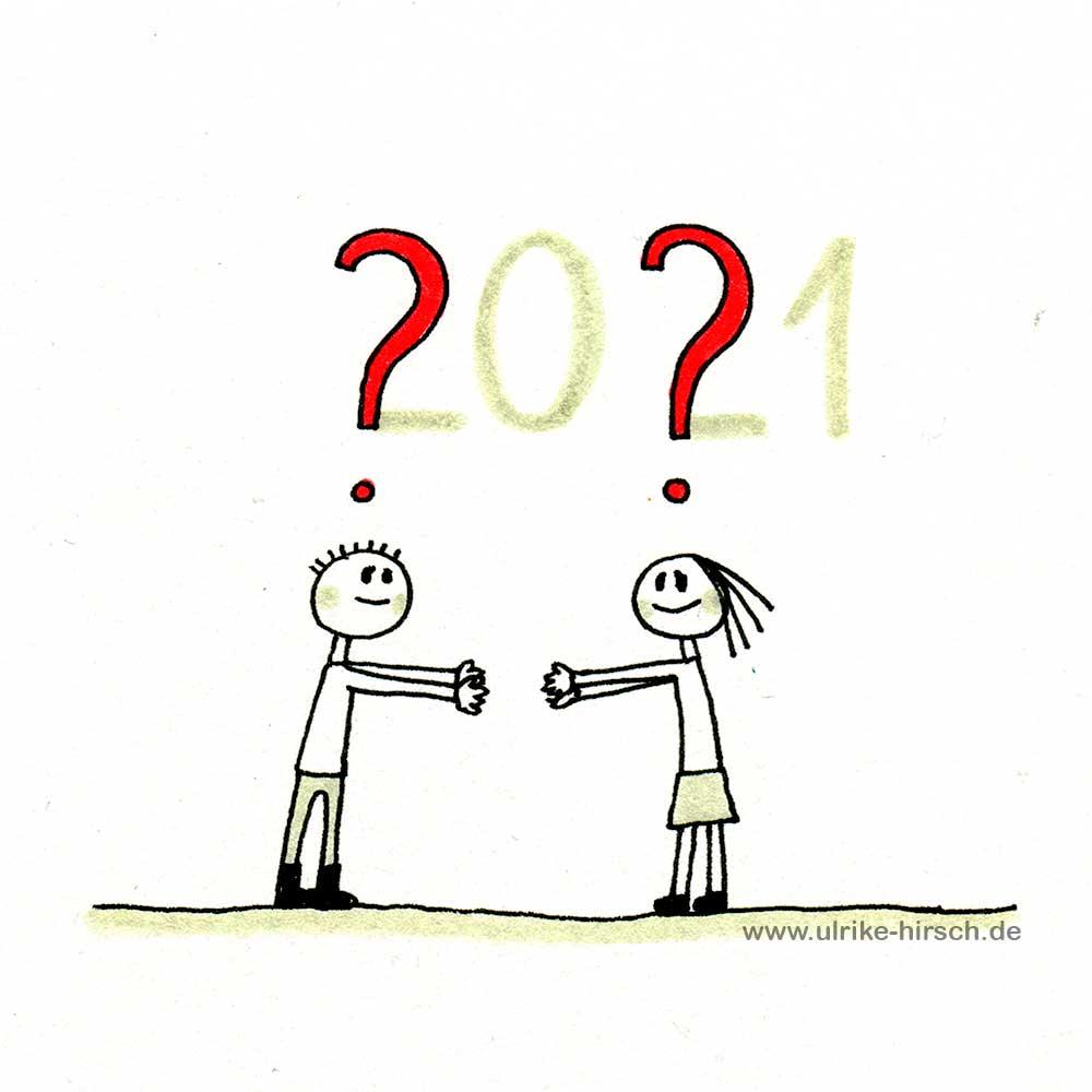 2021er Gedanken-Zeichnung #1 | Ulrike Hirsch