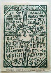 """Linoldruck """"Vier Jahreszeiten"""""""