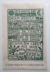 """Linoldruck """"Irischer Segen"""""""