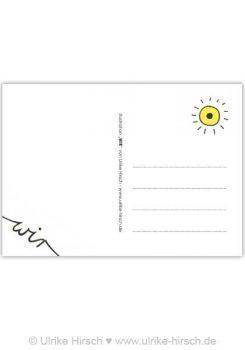 """Postkarte """"Wir"""" (Rückseite)"""